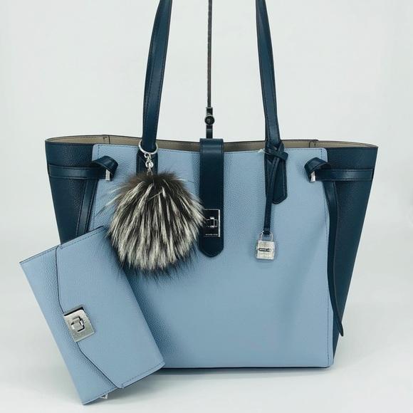 Michael Kors Handbags - 3PCS Michael Kors Cassie Large Tote Wallet Charms